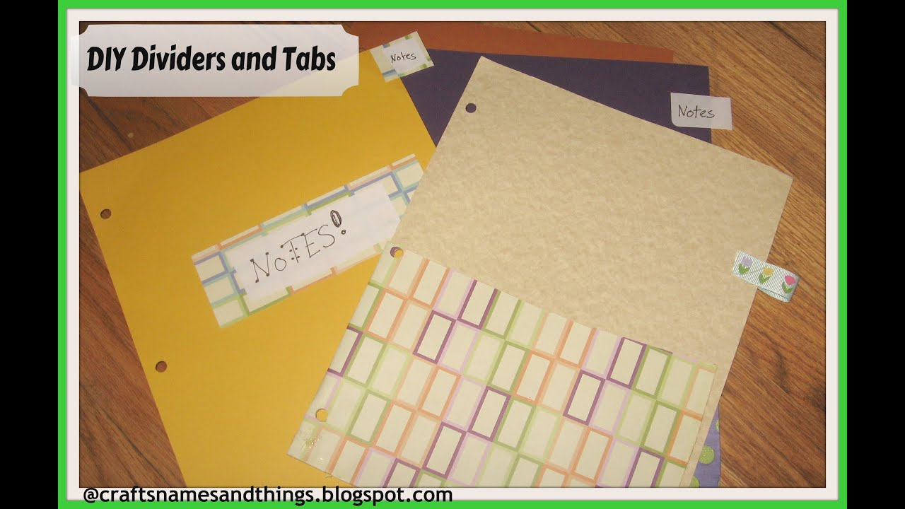 diy how to make binder dividers with pockets and tabs diy school