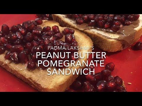Padma Lakshmi's Pomegranate Peanut Butter Sandwich