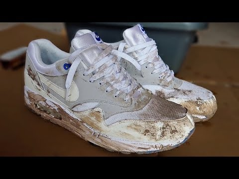 Cleaning The Dirtiest Air Max 1's Ever! TRASH TO NEW!