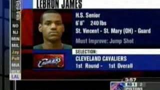 LEBRON JAMES GETS DRAFTED