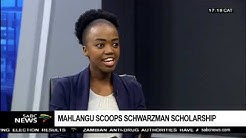 Engineering Graduate scoops Schwarzman scholarship: Mahlangu