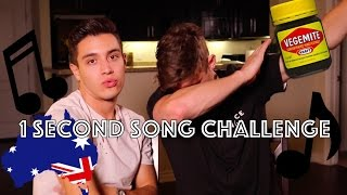 One of Jacko Brazier's most viewed videos: 1 SECOND SONG CHALLENGE FT GABRIEL CONTE / AUSSIE EDITION