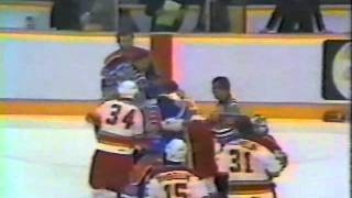 calgary vs edmonton bench clearing brawl