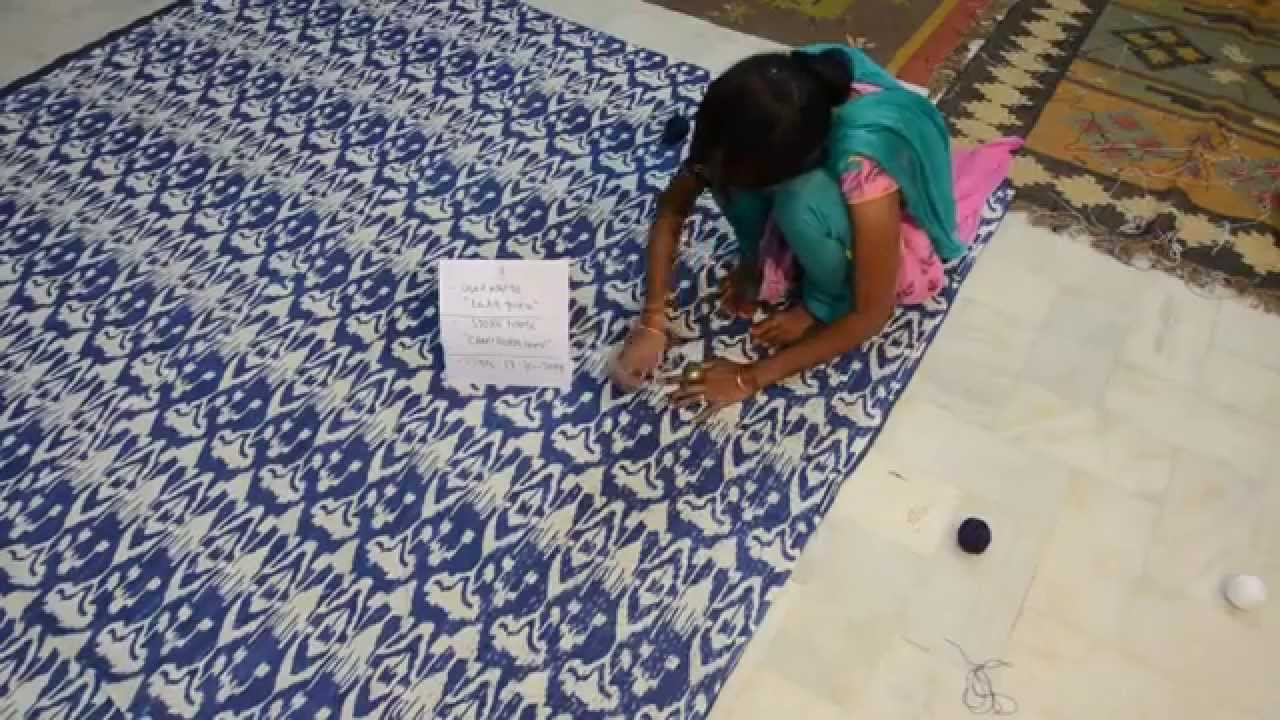 Making Of Blue Ikat Kantha For Etsy Youtube