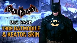 Batman: Arkham Knight - 1989 Batmobile & Keaton Skin (Race Tracks & Free Roam Gameplay)