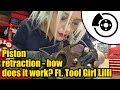 What part is responsible for providing brake caliper piston retraction? Ft.Tool Girl Lilli #1337