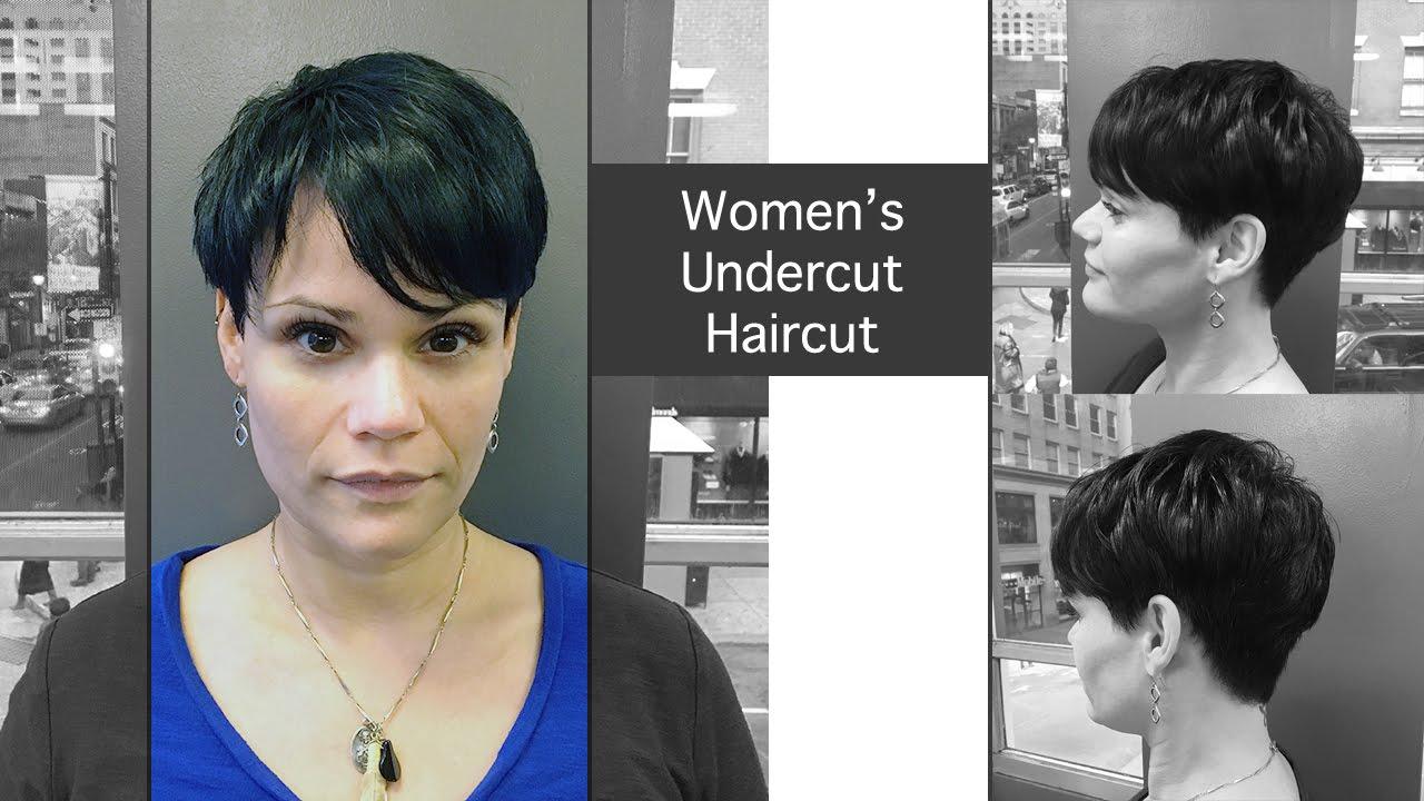 woman's undercut short haircut at volume hair studio, philadelphia