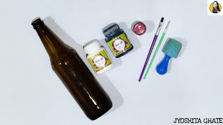 Super Easy, Simple & Quick Bottle Art for Beginners| Bottle Craft| Bottle Art|Bottle Painting Ideas