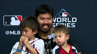 Nats Game 2 Anthony Rendon and Kurt Suzuki post Game 2 of World Series FULL INTERVIEW