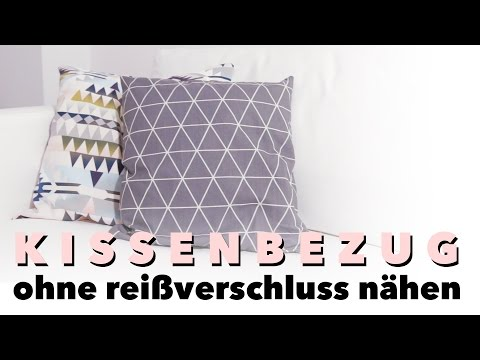 kissenbezug mit hotelverschluss selber n hen diy eule. Black Bedroom Furniture Sets. Home Design Ideas