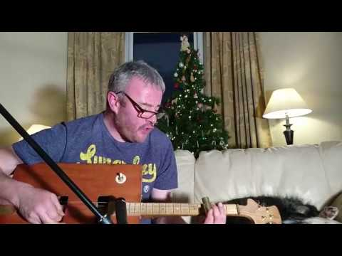 voodoo chile cover on cigar box guitar