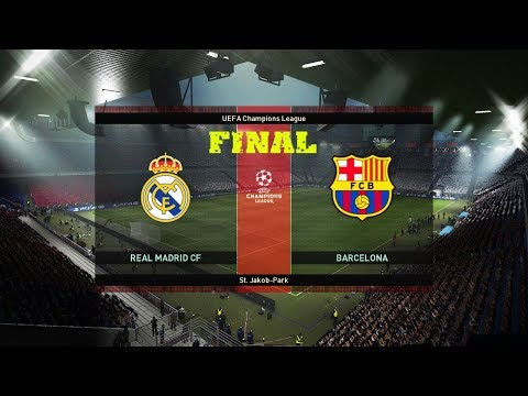 FINAL El Clasico Real Madrid vs Barcelona | UEFA Champions League | PES 2019 Gameplay