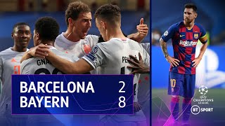 Barcelona vs Bayern Munich (2-8) | UEFA Champions League highlights