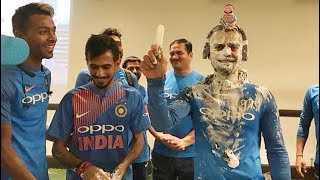 RIGHT or WRONG : Cricketers wasting food on birthday | Cake Celebration