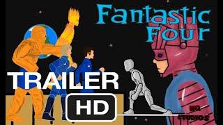 Фантастическая четверка тизер-трейлер / Fantastic Four teaser-trailer (Рисуем мультфильмы 2)