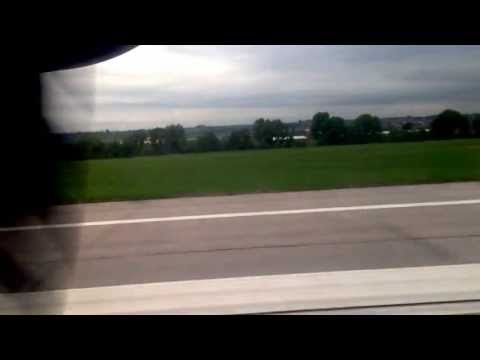 Lufthansa DH4 take off from Stuttgart to Munich (from Business Class seat)