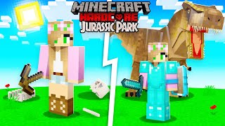 I Survived 100 DAYS in JURASSIC PARK Hardcore Minecraft... Here's What Happened