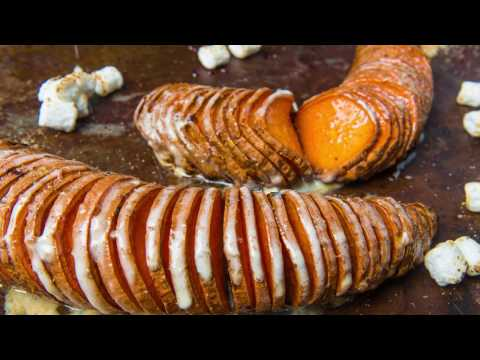 Marshmallow Hasselback Sweet Potatoes Recipe | Traeger Grills