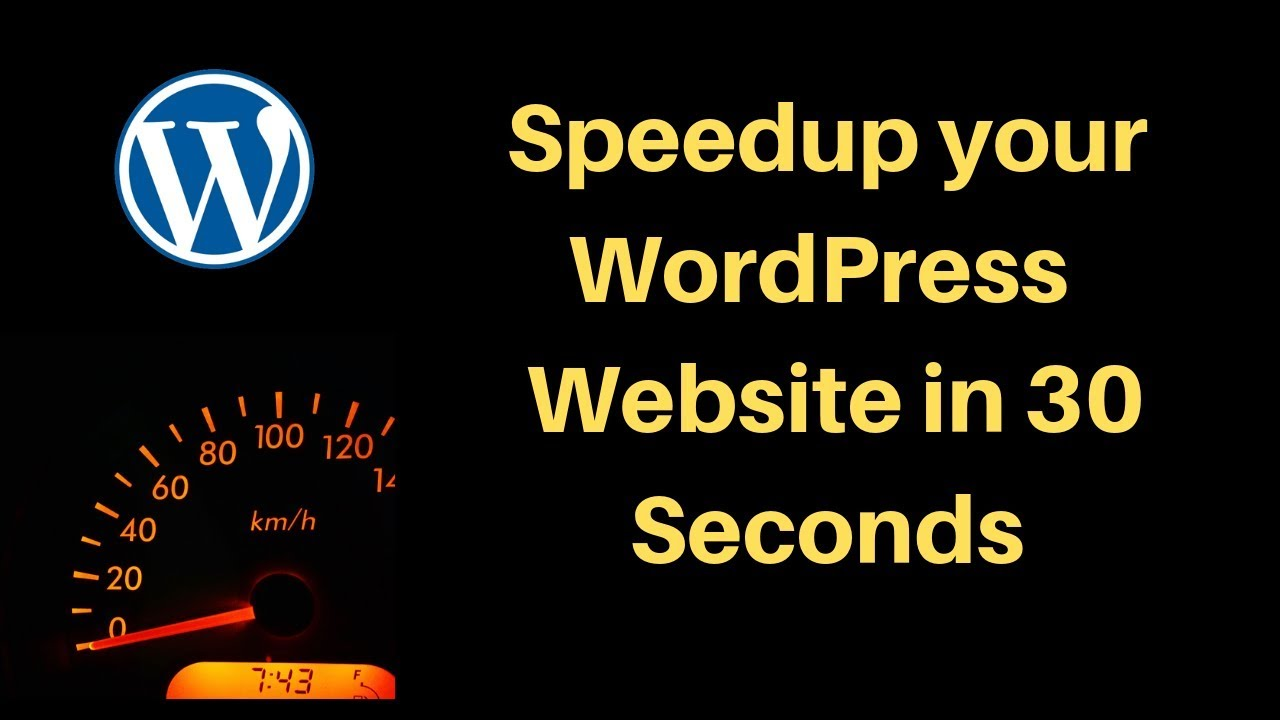 How to speed up your wordpress site 2019 - YouTube