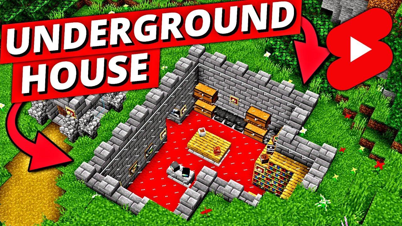 Minecraft Timelapse: Underground House #Shorts