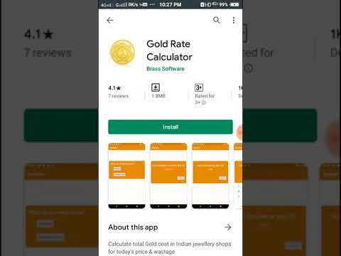 Gold Rate Calculator Android Mobile Apps