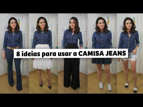 8 ideias para usar a CAMISA JEANS | Anita Bem Criada