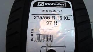 Matador MP47 HECTORRA 3 XL 215/55 R16 /// обзор
