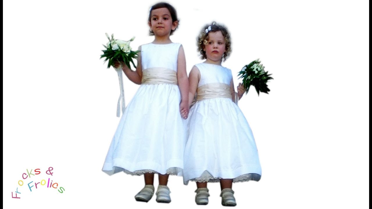 Flower girl dress how to part 3cutting out youtube flower girl dress how to part 3cutting out ombrellifo Gallery
