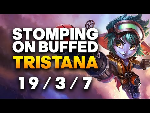 Grandmaster Tristana ADC Gameplay - How to 1v9 on Buffed Tristana | League of Legends