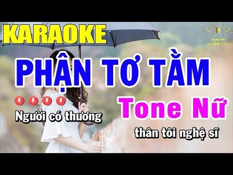 Karaoke Phận Tơ Tằm Tone Nữ Nhạc Sống | Trọng Hiếu