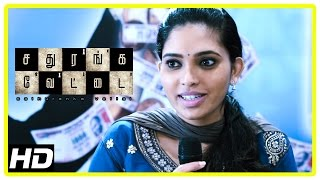 Sathuranga Vettai Scenes | Ishaara Nair joins Natraj's business | Natraj makes more money