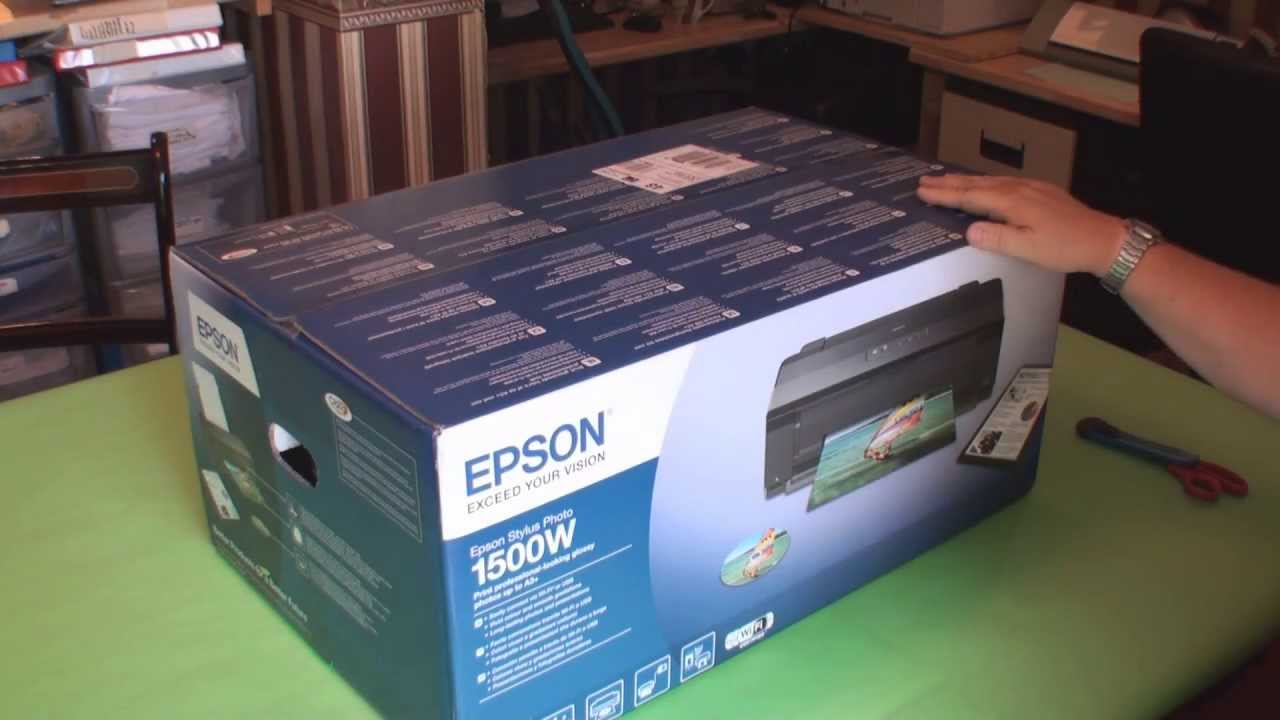 Epson Stylus Photo1500w Printer Unboxing Video For My T