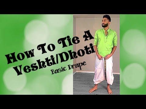 How To Wear A Dhoti/Veshti | The Basic Drape