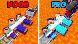 Minecraft NOOB vs. PRO: FAMILY TRAP CHALLENGE in Minecraft! (Animation)