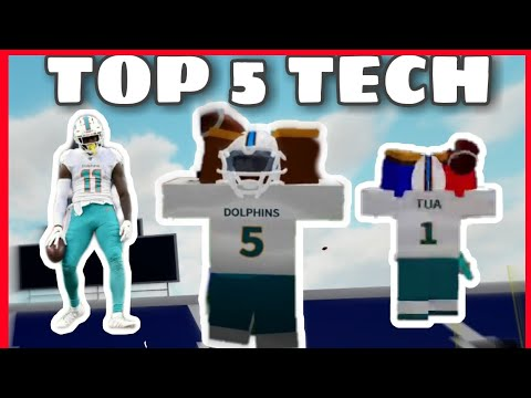 TOP 5 WR TECHNIQUES IN FOOTBALL FUSION! | JP TECH?