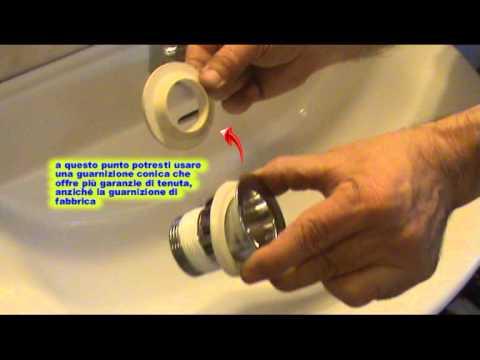 Come sostituire la piletta del lavabo  YouTube