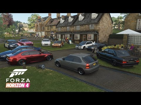 Forza Horizon 4 | Clean Stance Car Meet - Cruising & Drifting w/ Widebody NSX, Evo IX, R32, & More thumbnail