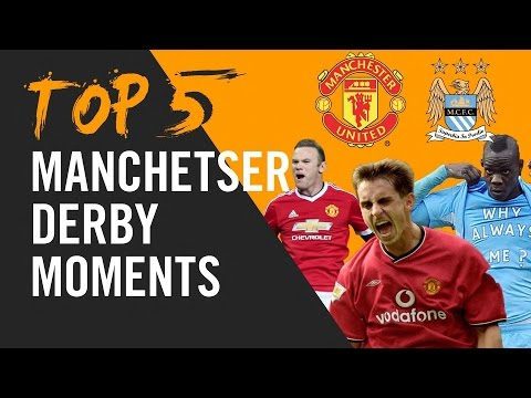Rooney, Balotelli and Neville | top 5 Manchester Derby Moments.