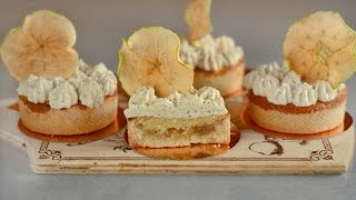 Apple Tarts with Baked Almond Cream and Black Tea Whipped Cream Recipe