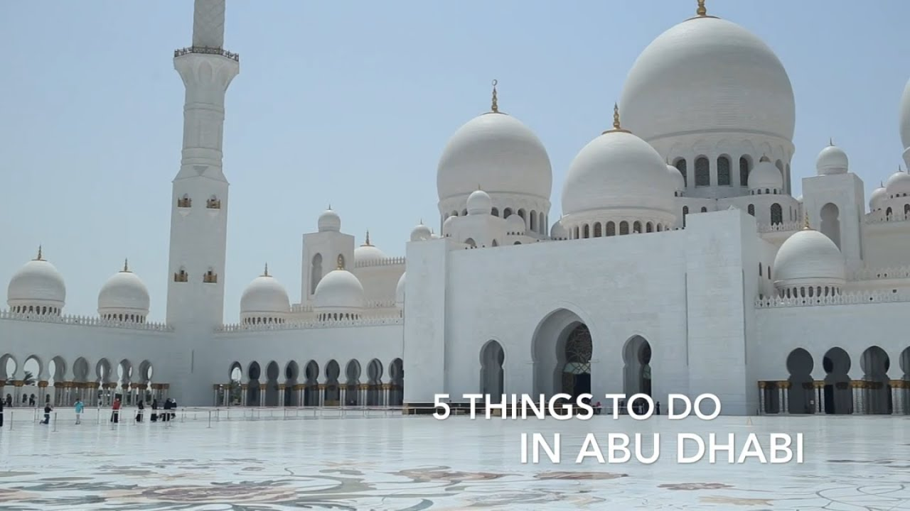 5 Things To Do in Abu Dhabi  YouTube