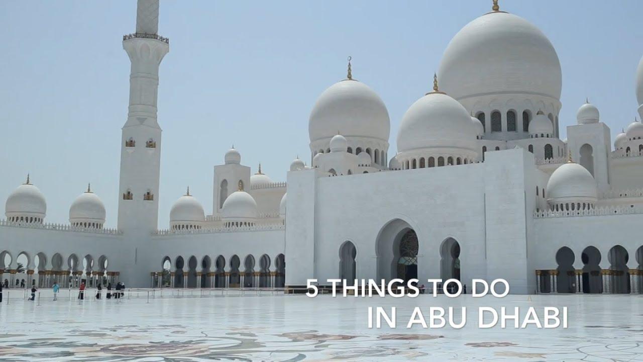 5 Things To Do in Abu Dhabi - YouTube