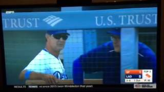 Don Mattingly calls ump a minor league motherfucker after a close pitch called a ball