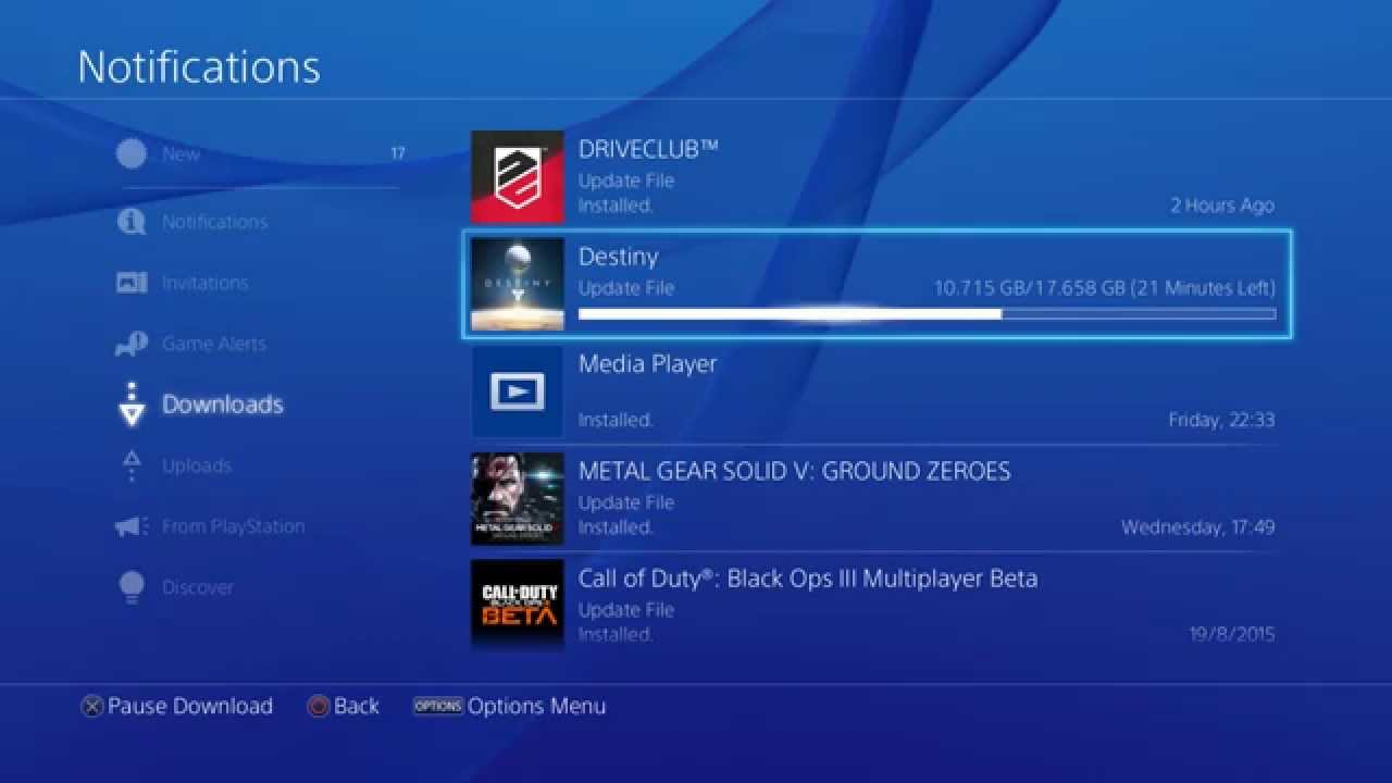 downloads up how speed ps4