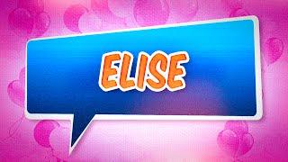 Joyeux anniversaire Elise