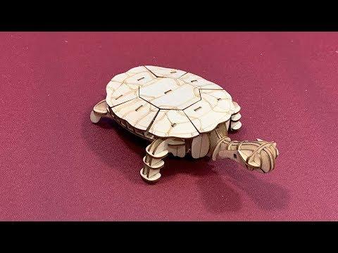 Hands craft DIY Modern 3D Wooden Puzzle TURTLE