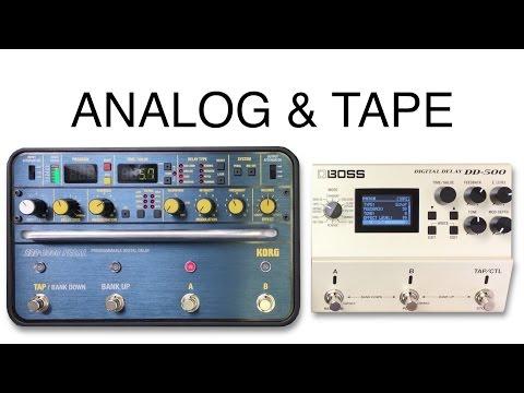 Korg SDD 3000 vs Boss DD 500 Tape Analog