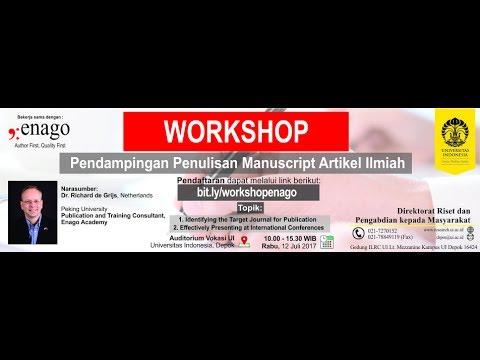 Workshop Pendampingan Penulisan Manuscript Artikel Ilmiah