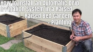 How to Install a Automatic Drip Irrigation System in a Raised Bed Garden