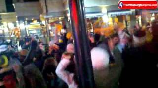 Raw Video: Steelers Fans Celebrate In Oakland