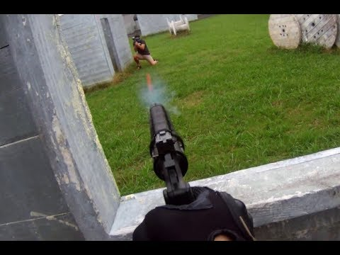 .50 Caliber Paintball Revolver Gameplay - Insane Paintball 10-14-2017